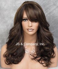 Heat Resistant Synthetic Wig Brown Mix Long n Wavy w. Side Skin Top JSHB 4-27