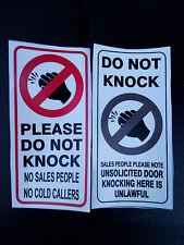 2 X Do not knock sticker transparency waterproof