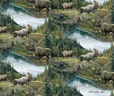 BRENNER PASS SCENIC MOOSE FABRIC