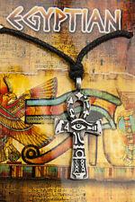 COLLIER PENDENTIF CROIX ANKH EN ETAIN  -BIJOUX EGYPTE ANCIENNE-6758-CA1