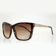 Guess Mujer Diseñador Gafas De Sol Gu 7240 TO-34 10768 Cebra Marrón-Nuevo