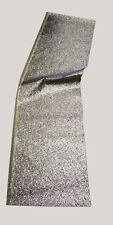 Glitter Fabric Large Flakes - Silver - 1.80mtr x 46cm - off cuts