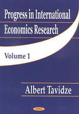 Progress in International Economics Research: v. 1 by Nova Science Publishers...