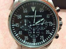 Michael Kors Da Uomo Gage Quadrante Nero Orologio in Acciaio Inox MK8413