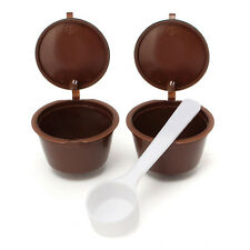 2PC Refillable Reusable Coffee Capsule For Dolce Gusto Machine Refill Cup Filter