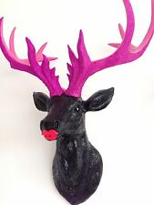 LARGE Unique decoration Stag Head Taxidermy Deer 'NOIR - Bling'