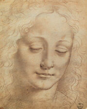 Leonardo da Vinci - Female Head Painting - Renaissance - Fine Art Canvas Print