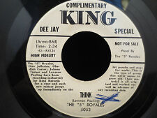 """The """"5"""" Royales-Think/I'd Better Make a Move on KING 45-K4135 45RPM PROMO!"""