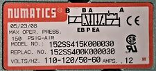 NUMATICS 152SS415K000030 SOLENOID VALVE/MANIFOLD MK15  5/2 DBL SOL 120V 1/4''NPT