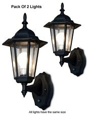 Pack Of 2 Outdoor Wall Lighting Systems For Dusk-To-Dawn illumination