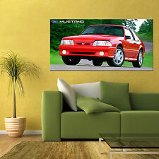 1993 MUSTANG GT COBRA FOX BODY 5.0L SALEEN LARGE AUTOMOTIVE HD POSTER 24x48in