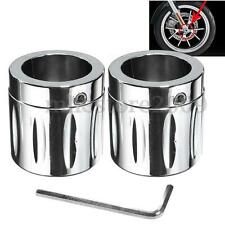 2x Front Axle Nut Cover Bolt For Harley Davidson Sportster Dyna Softail Custom