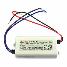 120pc LED Constant Voltage CV Driver APV-12-12 12W 12V 1A 77x40x29mm Mean Well