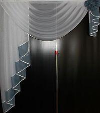 Deko - Gardine, Store, Vorhang in der Farbe grau / weiss