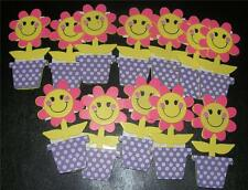 Girl Lot of 12 Wood DAISY POTS--troop craft swap name tag scouts daisies painted