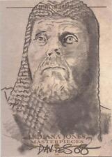 "Indiana Jones Obras Maestras-Jason Davies ""grial knight"" Bosquejo de la tarjeta"