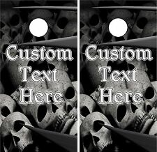 Custom Skull Bone WRAPS Skins Cornhole Boards DECALS Bean Bag Toss Game Stickers