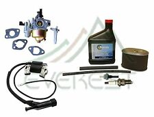 NEW HONDA GX160 IGNITION COIL CARBURETOR AIR FILTER SPARK PLUG OIL TUNE UP KIT