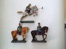 A146/  3 Hausser Elastolin Figur Reiter zu Pferd von ca. 1935