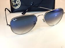 Ray Ban Aviator 3025 Silver Frame Silver/Blue Gradient Sunglasses 003/3F 58mm