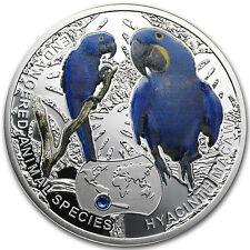 Niue 2014 Proof Silver Endangered Animal Species - Hyacinth Macaw - SKU #81064