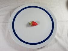 Mitterteich Porzellan Platte Tortenplatte Servierplatte Teller Sissi blauer Rand