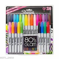Pack of 24 Sharpie Permanent Marker Pens (Fine Point) in Assorted Colours