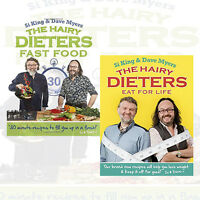Hairy Bikers Collection 2 Books Set Hairy Dieters Eat for Life & Fast Food , New