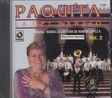 Paquita La Del Barrio Acomp: Banda La Costeña De Ramon Lopez Vol 2 CD Nuevo