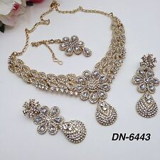 Indian Jewellery Bollywood Bridal Asian Party Ethnic Wear Necklace Set