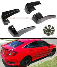 4PCS FRONT& REAR SPLASH MUD GUARD FLAPS FOR 2016-17 10TH GEN HONDA CIVIC X SEDAN