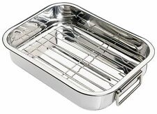 Kitchen Craft Stainless Steel 25cm x 18cm Roasting Pan