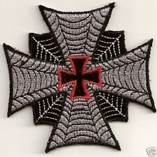 IRON CROSS RED CENTER Embroidered Motorcycle MC Club Biker Vest Patch PAT-0979