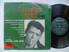 "25 cms 10"" JACQUES BREL 2 Quand on n a que l amour A. POPP M. LEGRAND B 76085 R"