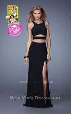 21106 Lafemme Black Cutout Party Evening Formal Prom Gown Dress Size USA 0