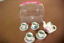 Disney Princess Miniature Tea Set w/ Carrying Case  11 Pc.  Doll House Sz      k