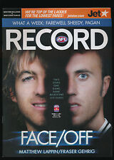 2007 AFL Football Record Western Bulldogs vs west Coast Eagles July 27 unmarked