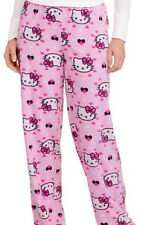 HELLO KITTY ~ Micro Fleece Pajama Bottoms Sleepwear Womens Size 4-6 Small