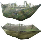 Nylon Hammock Hanging Swing Bed+ Mosquito Net for Travel Outdoor Camping Hiking
