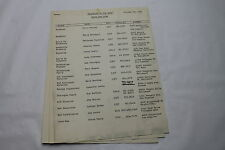 Barefoot in the Park * 1968 TV Show Staff & Crew List Document with Contact Info
