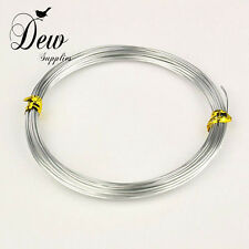 10 Meter,1mm aluminium wire silver color Jewellery making wire wrapping beading