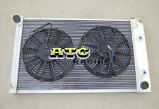 For 70-81 Chevy Camaro/75-79 Nova/70-87 BUICK REGAL Aluminum Radiator + 2 fans