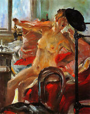 Lovis Corinth  Morning Female Nude     - 24'  CANVAS