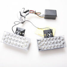 2x 12V Blue 22 LED Burst Flashing Light Grill Strobe Light Lamp For Car Vans