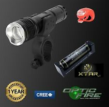 Opticfire CREE XML LED T6-ZOOM Waterproof single torch bike lights & rear light