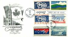 PREMIUM CACHETED Canada's Centennial issue combo FDC