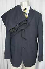 BANANA REPUBLIC Suit Mens Size 44R 36x29 Navy Nailhead Mohair Wool Modern Fit