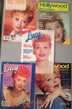 Collection of 5 I LOVE LUCY Lucille Ball HOLLYWOOD STUDIO & Tribute Magazines