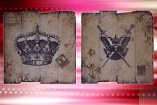 Krone und Schwerter 2 dekorative Holzschilder das Gastronomie Geschenk SK10