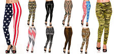 Lot 6 Sublimation Graphic Printed Sheer Tatoo Leggings Tight Pants Queen Size OS
